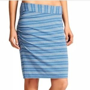 Athleta Blue Stripe High Rise Tube Skirt Azalea